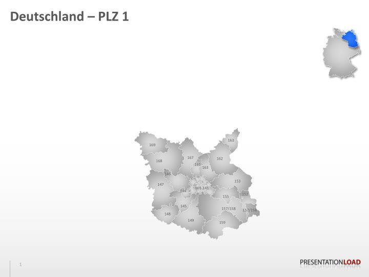 Deutschland – PLZ 1