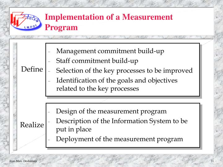 Implementation of a Measurement Program