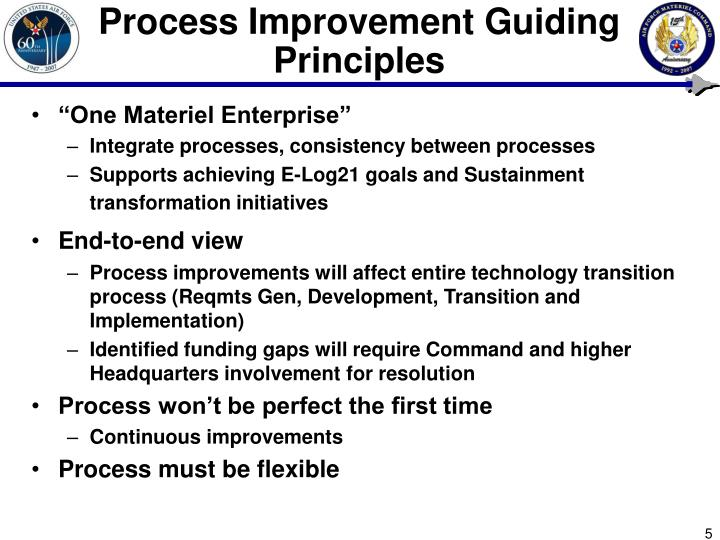Process Improvement Guiding Principles