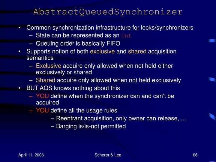 AbstractQueuedSynchronizer