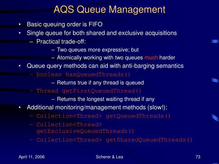 AQS Queue Management
