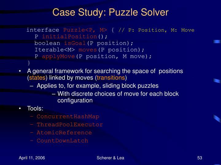 Case Study: Puzzle Solver