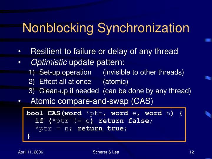 Nonblocking Synchronization
