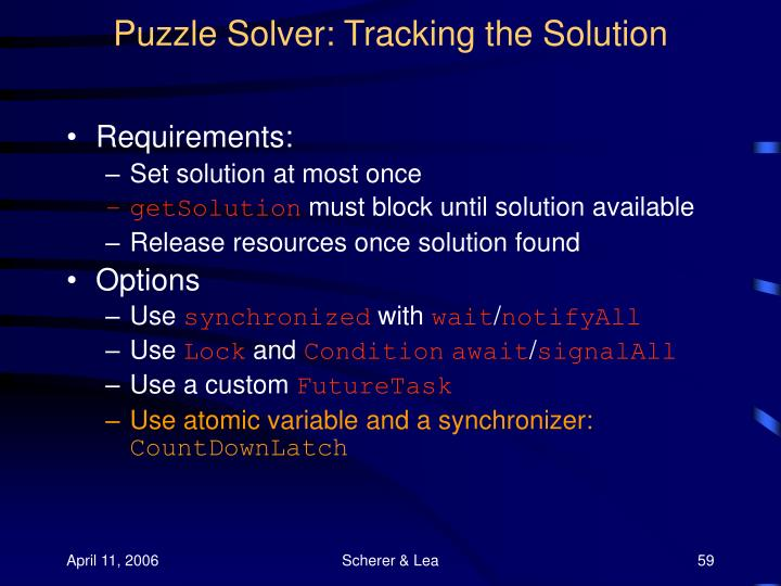 Puzzle Solver: Tracking the Solution