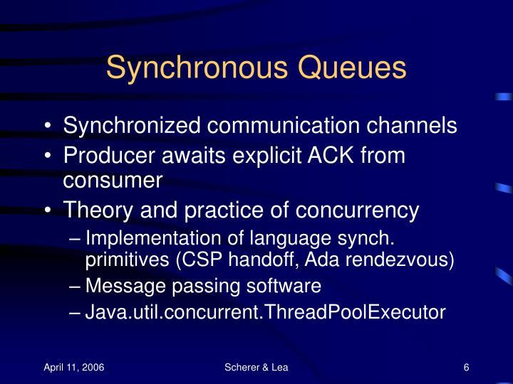 Synchronous Queues