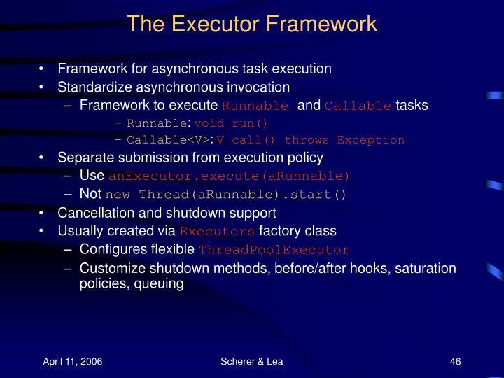 The Executor Framework