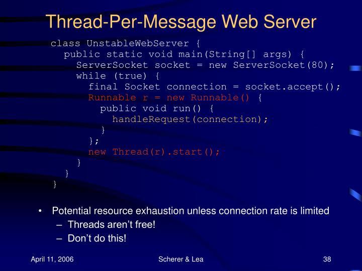 Thread-Per-Message Web Server