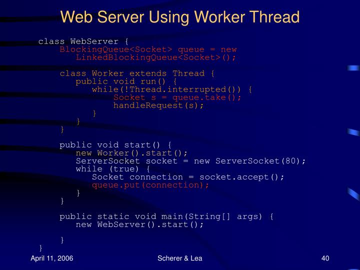 Web Server Using Worker Thread