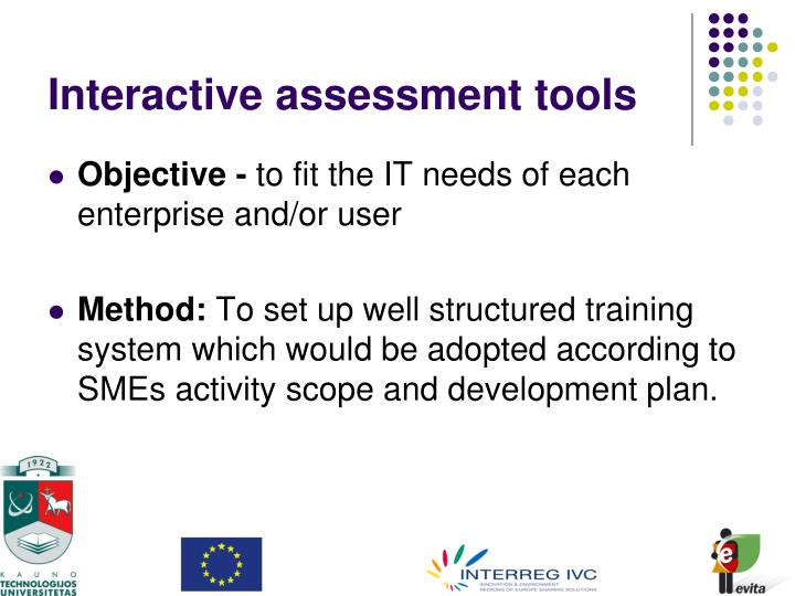 Interactive assessment tools