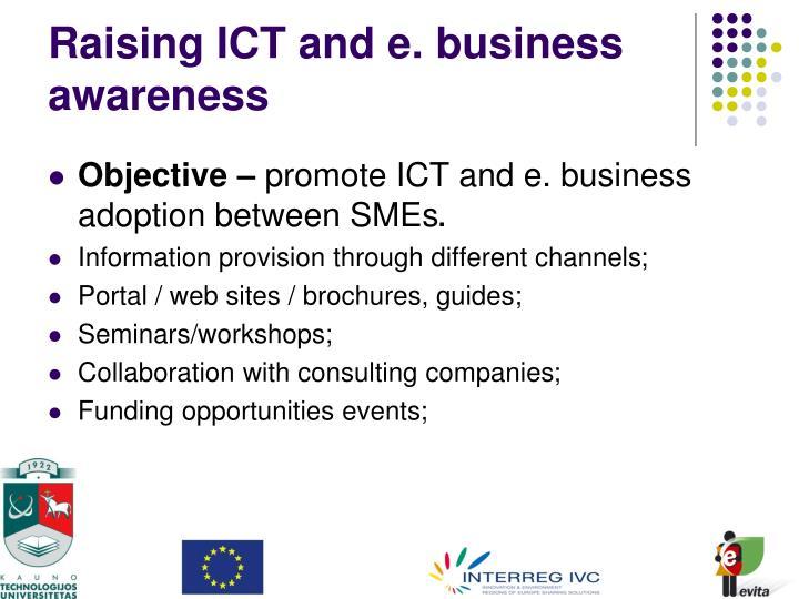 Raising ICT and e. business awareness
