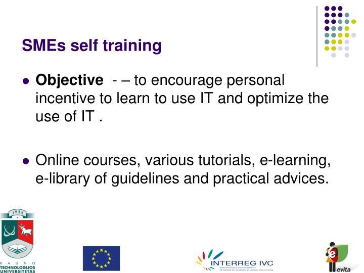 SMEs self training