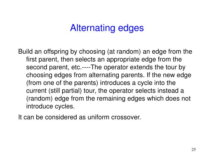 Alternating edges