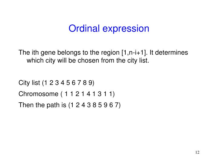 Ordinal expression