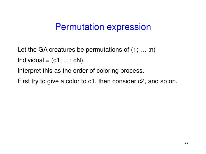 Permutation expression