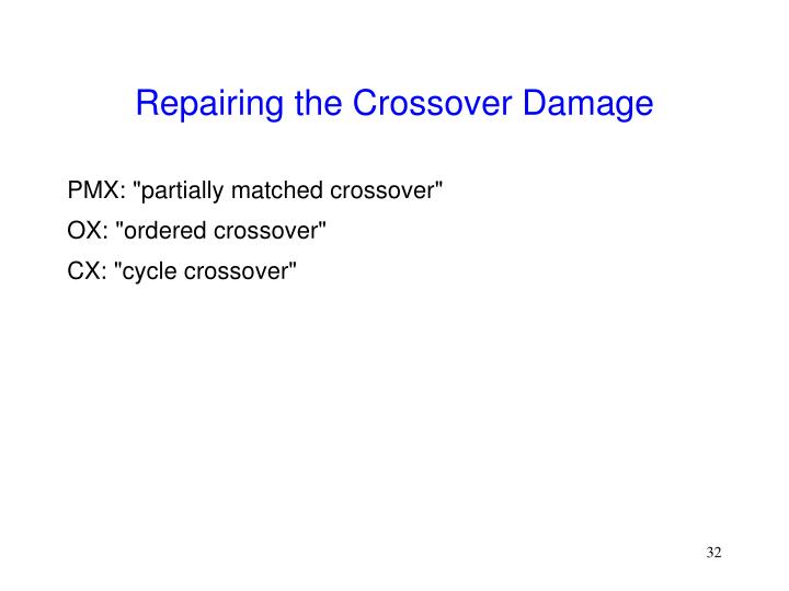 Repairing the Crossover Damage