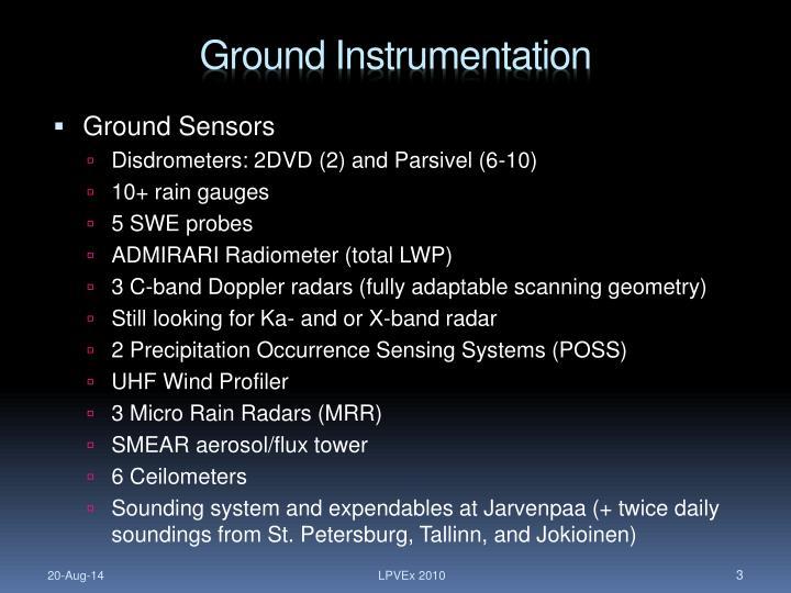 Ground Instrumentation