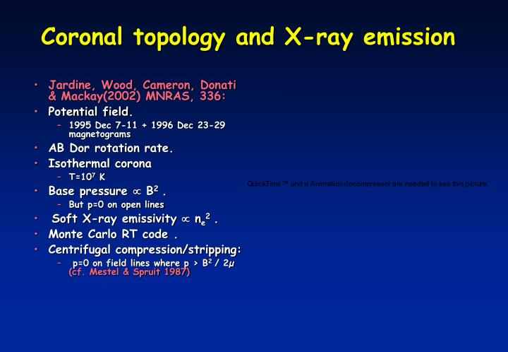 Coronal topology and X-ray emission