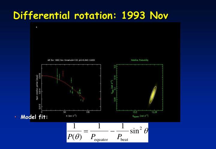 Differential rotation: 1993 Nov
