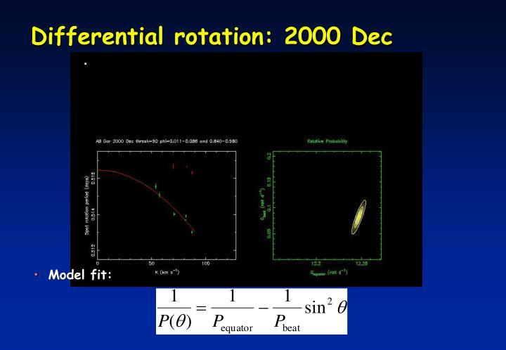 Differential rotation: 2000 Dec