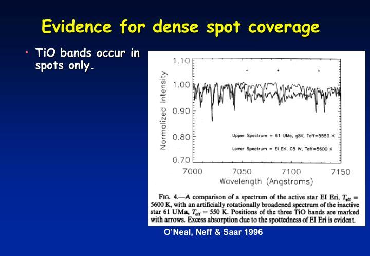 Evidence for dense spot coverage