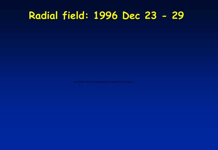 Radial field: 1996 Dec 23 - 29