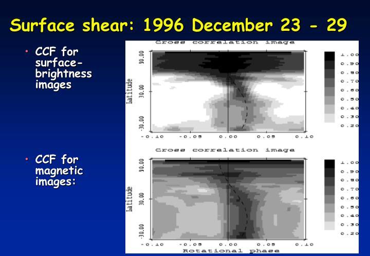 Surface shear: 1996 December 23 - 29