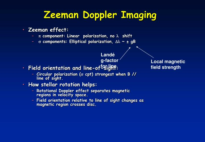 Zeeman Doppler Imaging