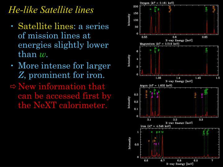 He-like Satellite lines