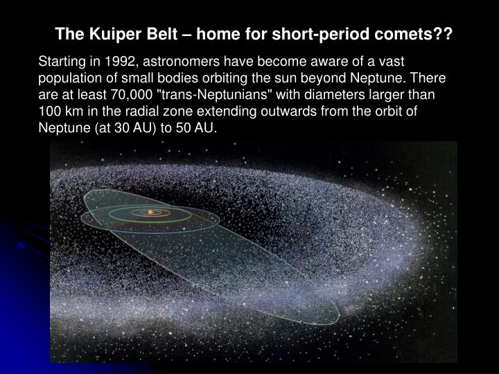 The Kuiper Belt – home for short-period comets??