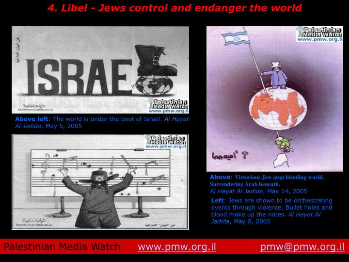 4. Libel - Jews control and endanger the world