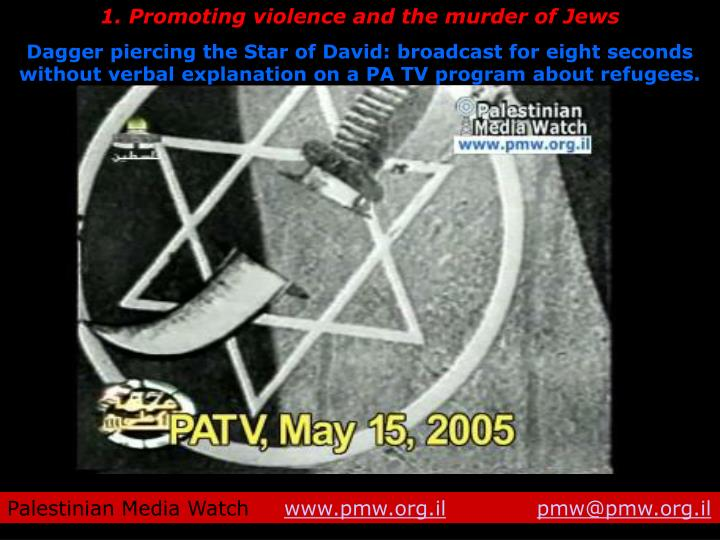 1. Promoting violence and the murder of Jews