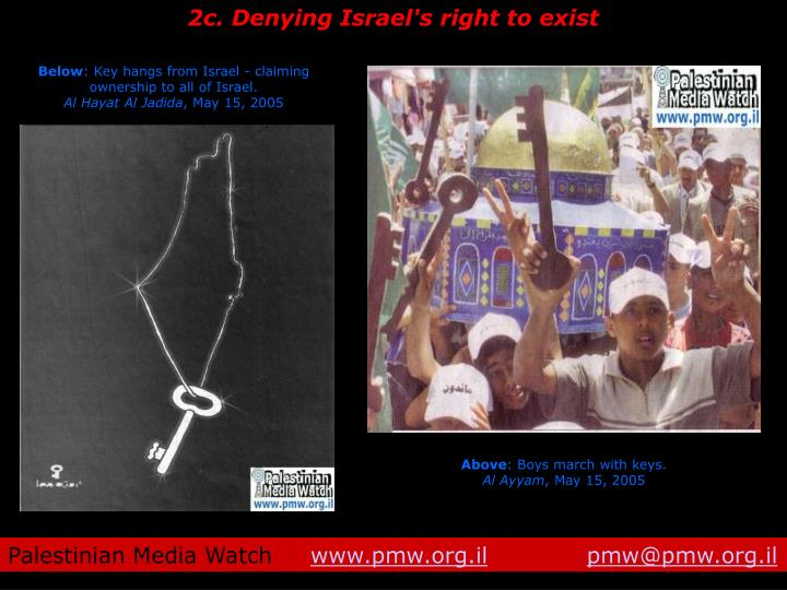 2c. Denying Israel's right to exist