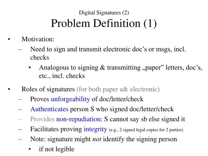 Digital Signatures (2)