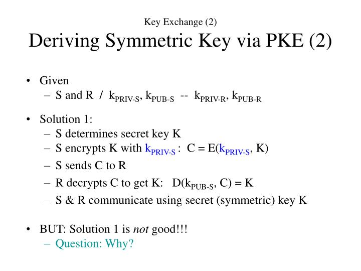 Key Exchange (2)