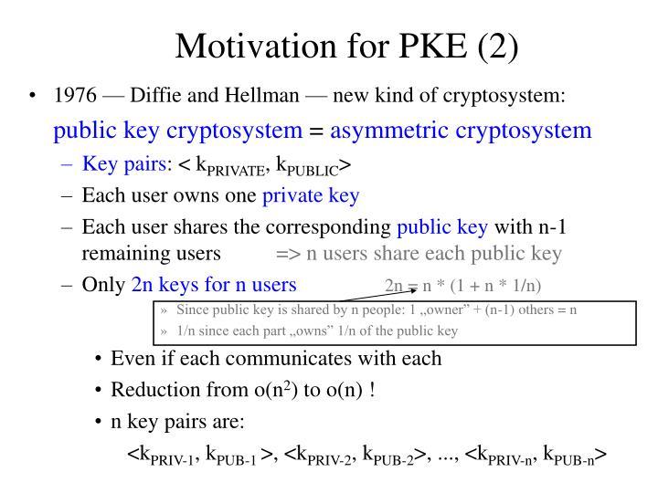Motivation for PKE (2)