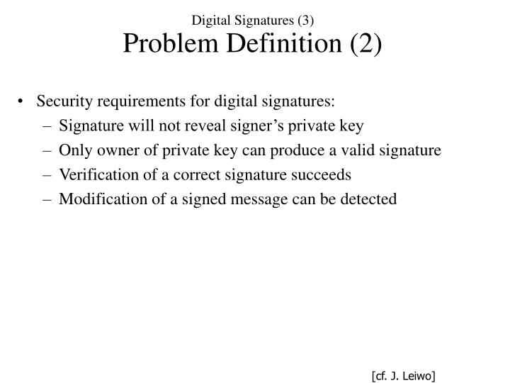 Digital Signatures (3)