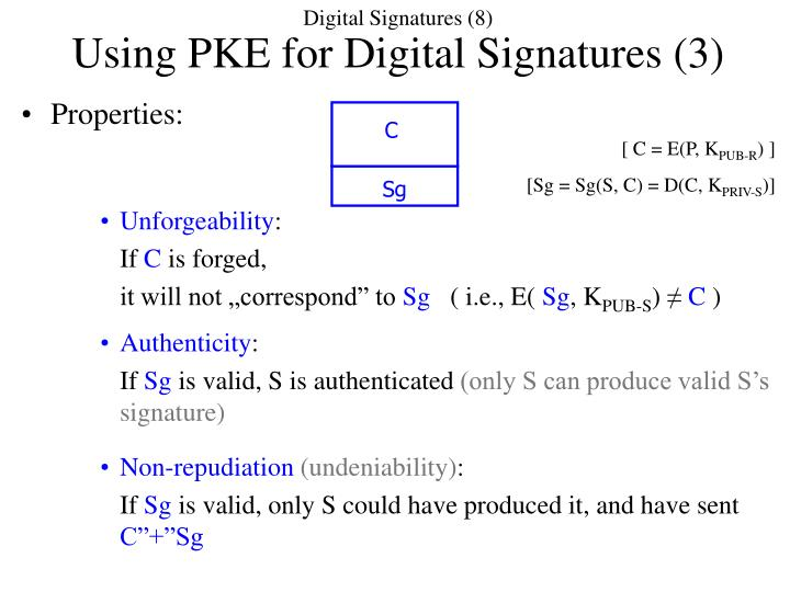 Digital Signatures (8)