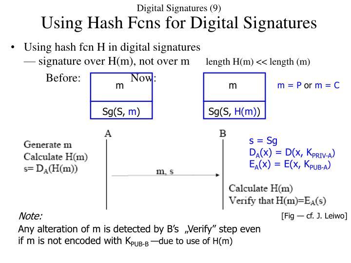Digital Signatures (9)