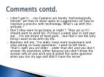 comments contd