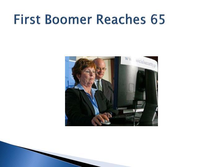 First Boomer Reaches 65