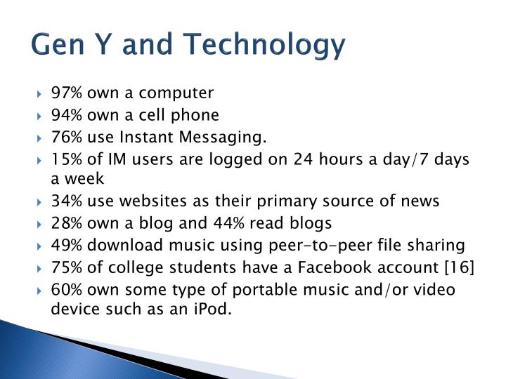 Gen Y and Technology