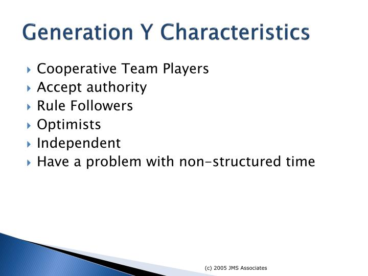 Generation Y Characteristics