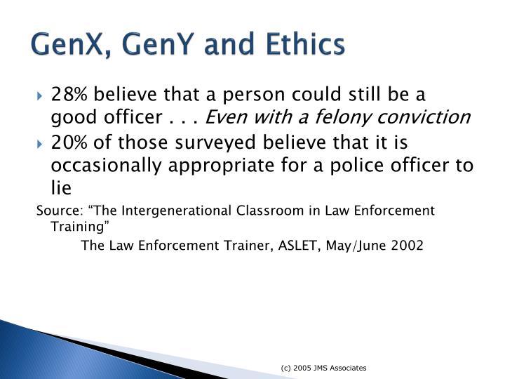 GenX, GenY and Ethics