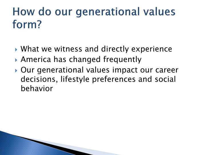 How do our generational values form?