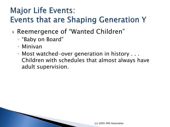 Major Life Events: