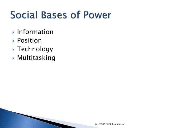 Social Bases of Power