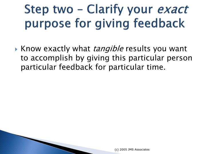 Step two – Clarify your