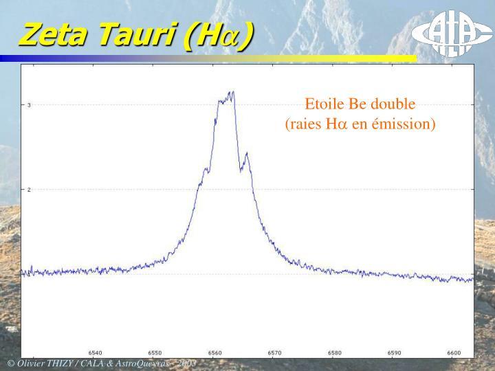 Zeta Tauri (H