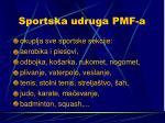 sportska udruga pmf a