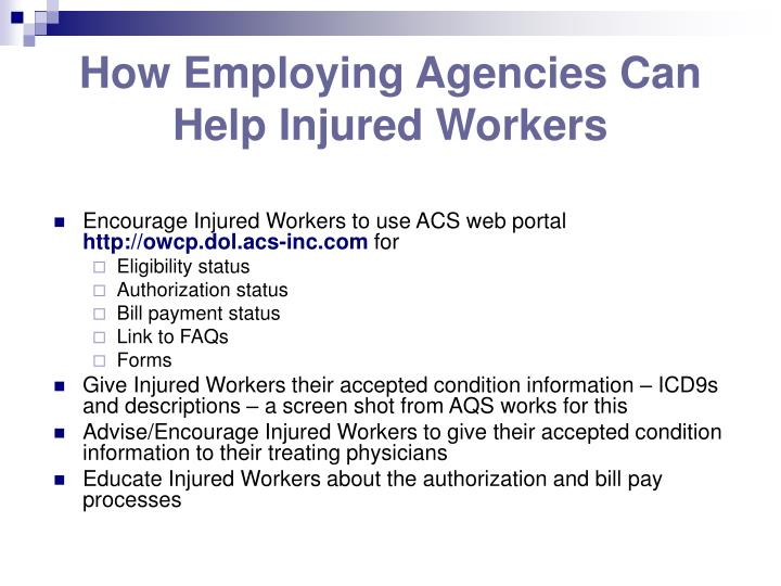 How Employing Agencies Can Help Injured Workers
